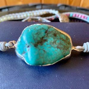 Jewelry - Turquoise stone wrap bracelet